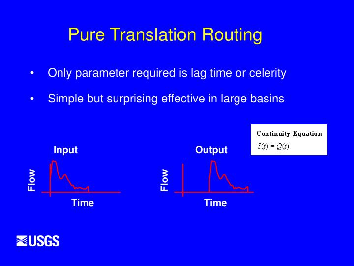 Pure Translation Routing