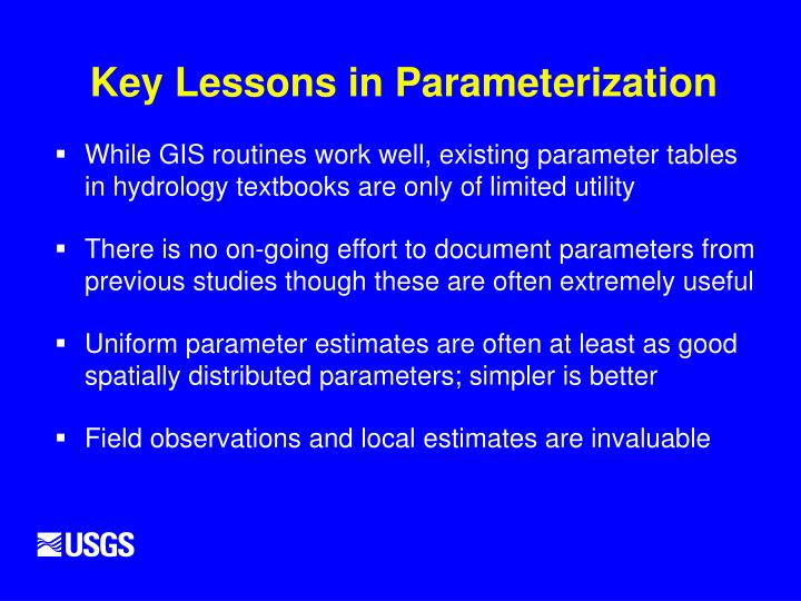 Key Lessons in Parameterization