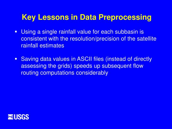 Key Lessons in Data Preprocessing