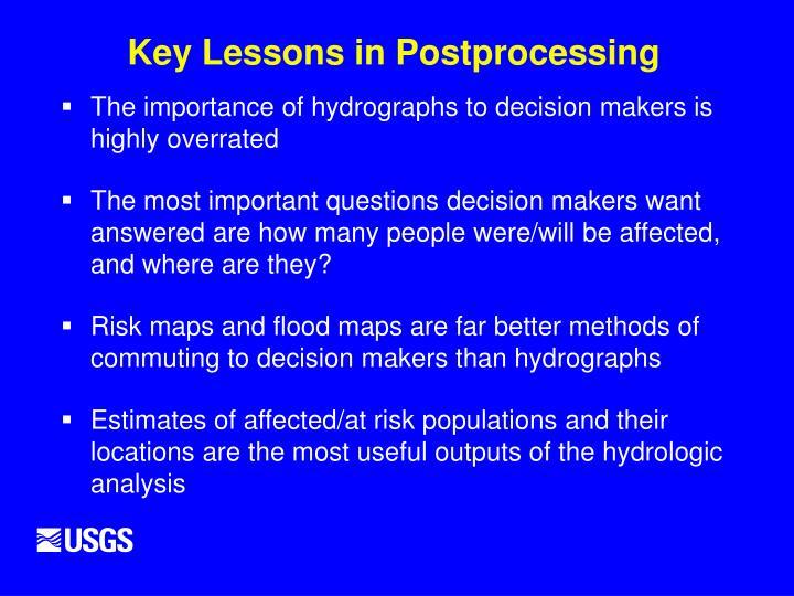 Key Lessons in Postprocessing