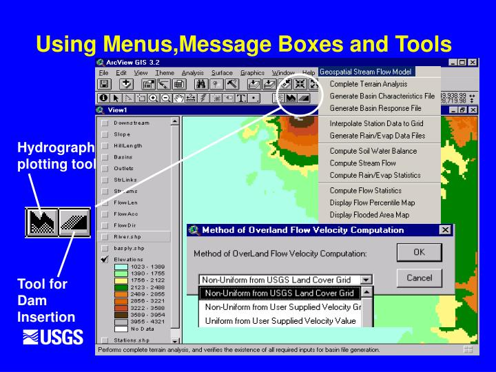 Using Menus,Message Boxes and Tools