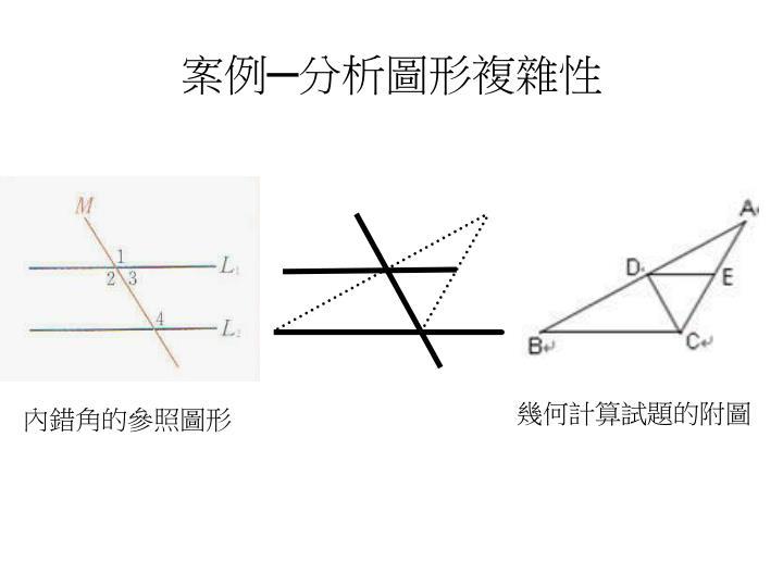 案例─分析圖形複雜性