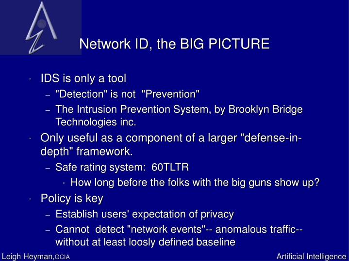 Network ID, the BIG PICTURE