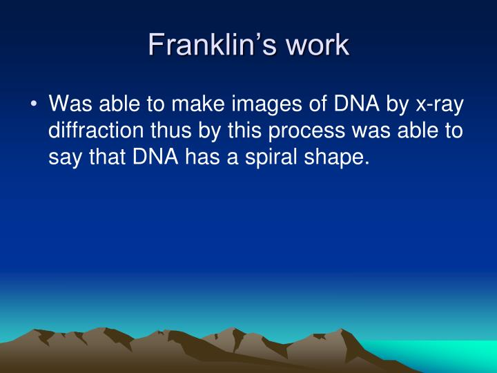 Franklin's work