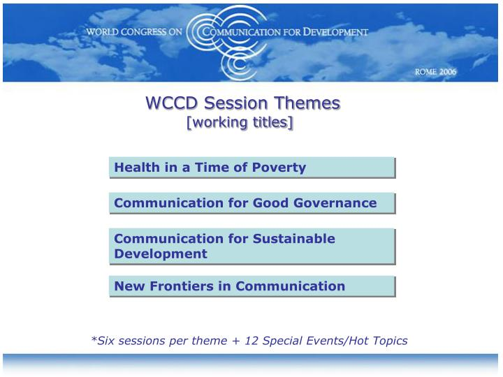WCCD Session Themes