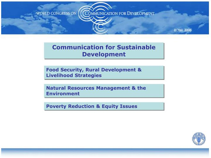 Communication for Sustainable Development