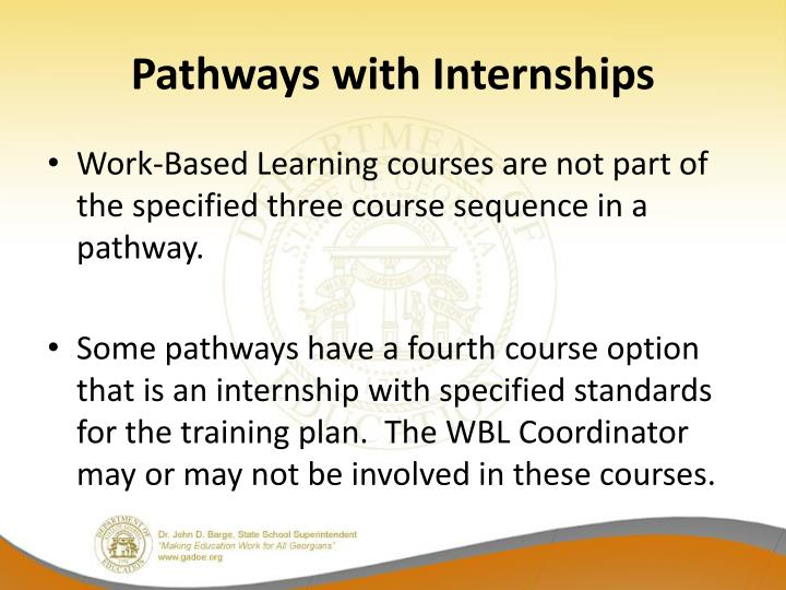 Pathways with Internships