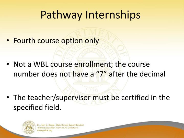 Pathway Internships