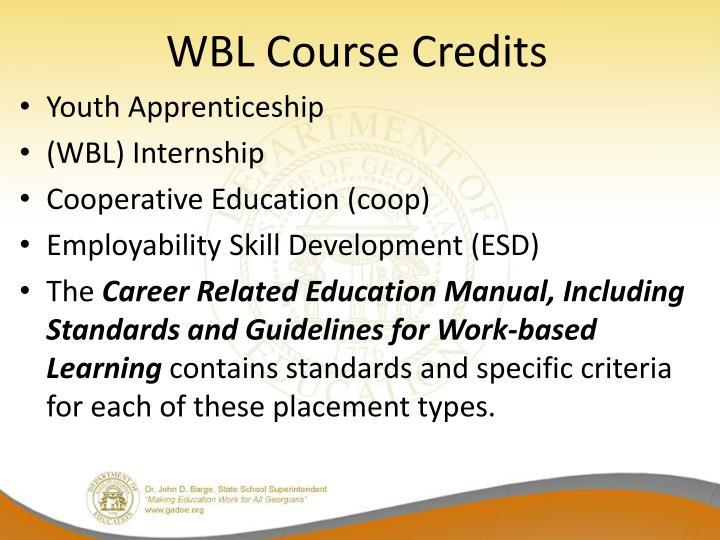 WBL Course Credits