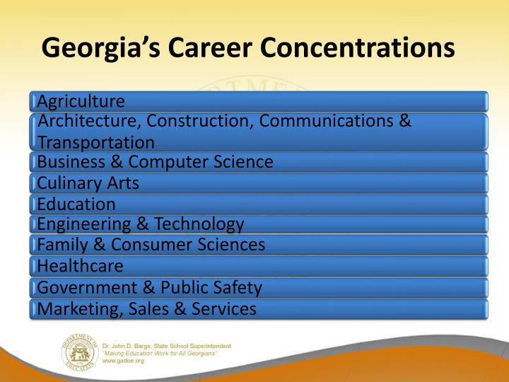 Georgia's Career Concentrations