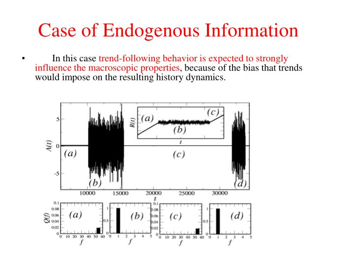 Case of Endogenous Information
