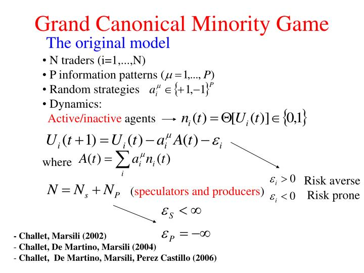 Grand Canonical Minority Game