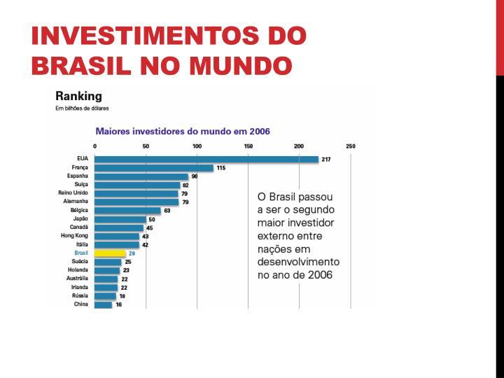 Investimentos do Brasil no mundo
