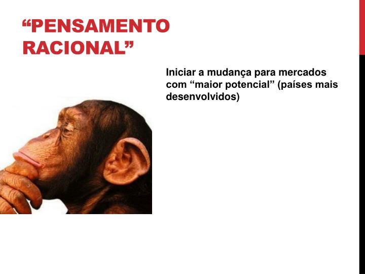 """Pensamento racional"""