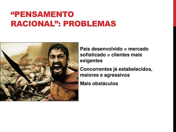"""Pensamento racional"": Problemas"