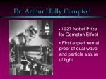 dr arthur holly compton