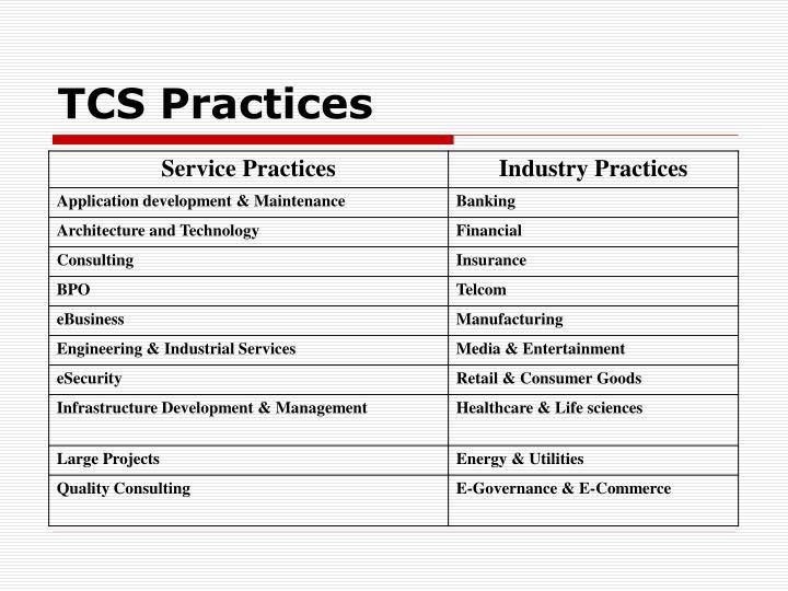 TCS Practices