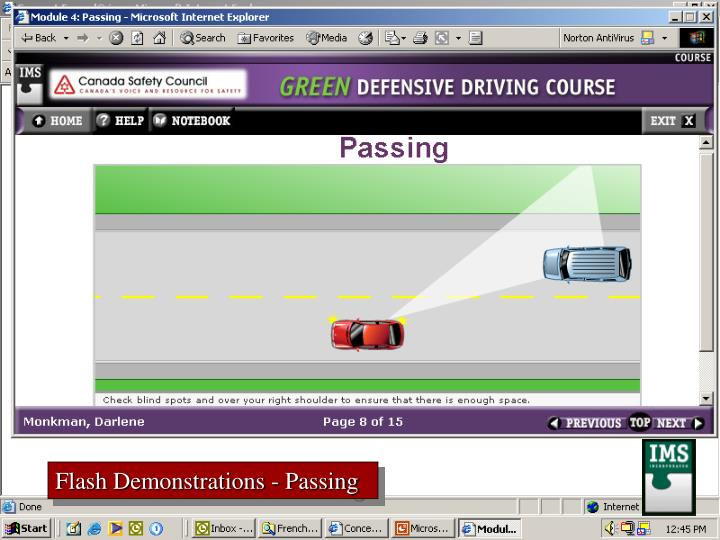 Flash Demonstrations - Passing