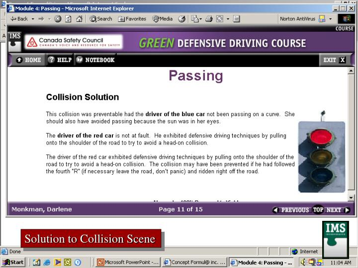 Solution to Collision Scene