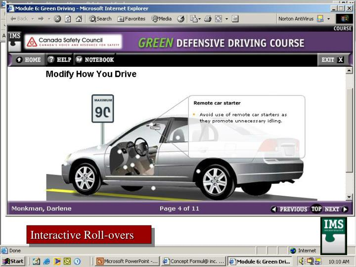 Interactive Roll-overs