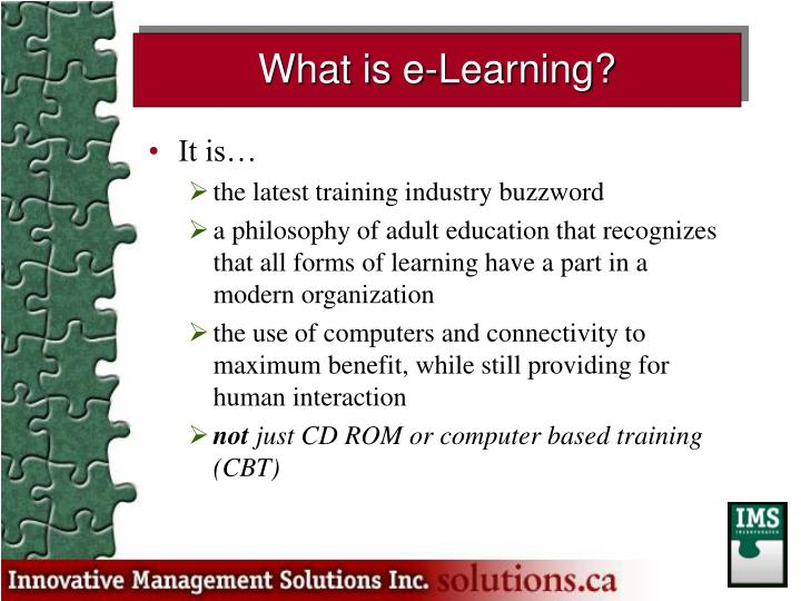What is e-Learning?