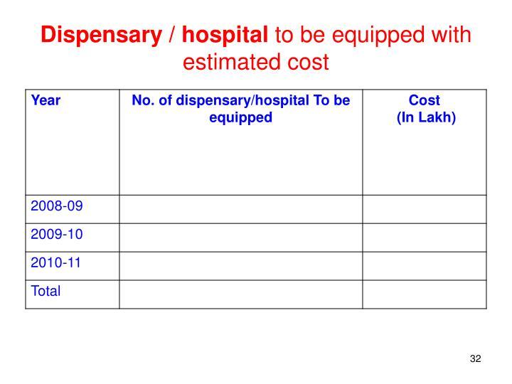 Dispensary / hospital