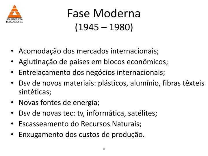 Fase Moderna