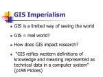 gis imperialism