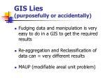 gis lies purposefully or accidentally