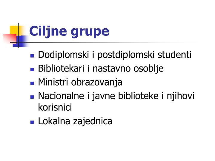 Ciljne grupe