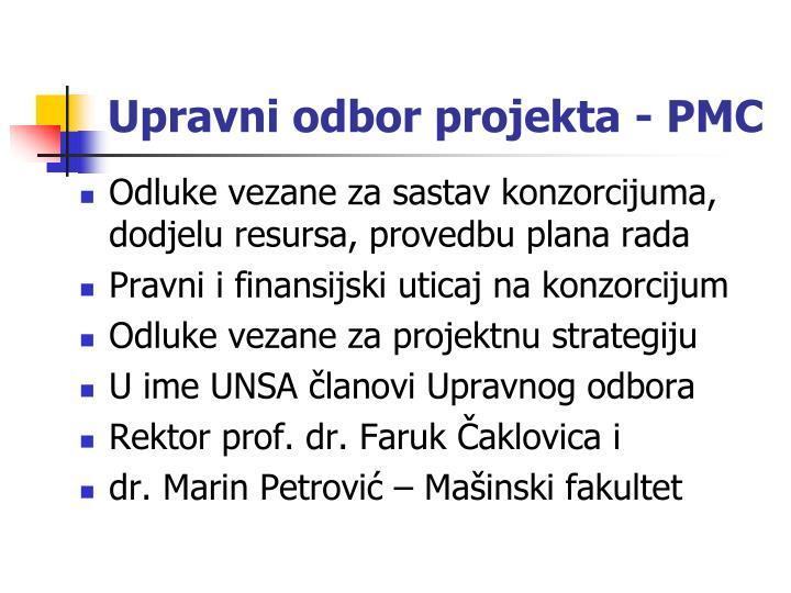 Upravni odbor projekta - PMC