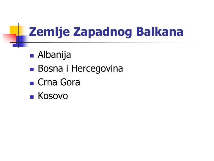 Zemlje Zapadnog Balkana