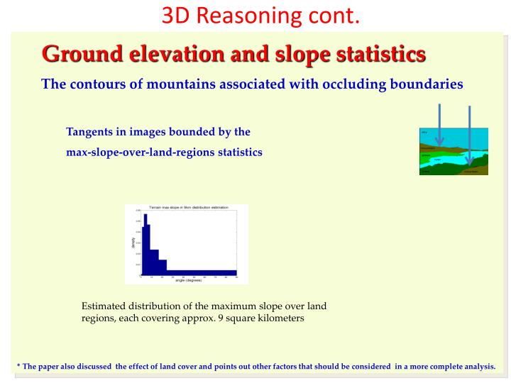 3D Reasoning cont.