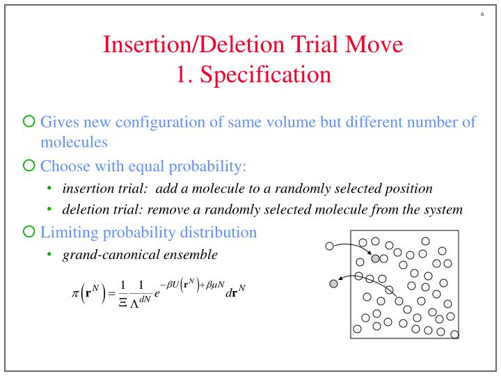 Insertion/Deletion Trial Move