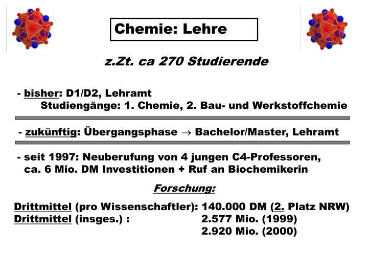 Chemie: Lehre