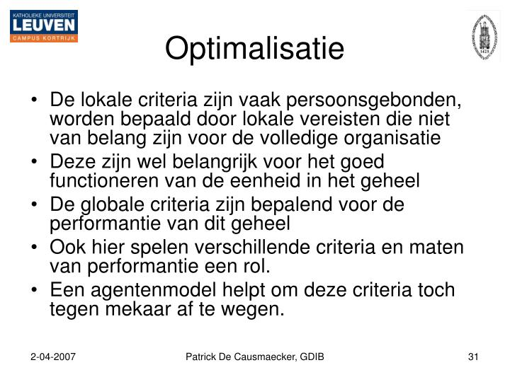 Optimalisatie