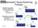 voorbeeld nurse rostering problem