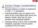 auction design considerations