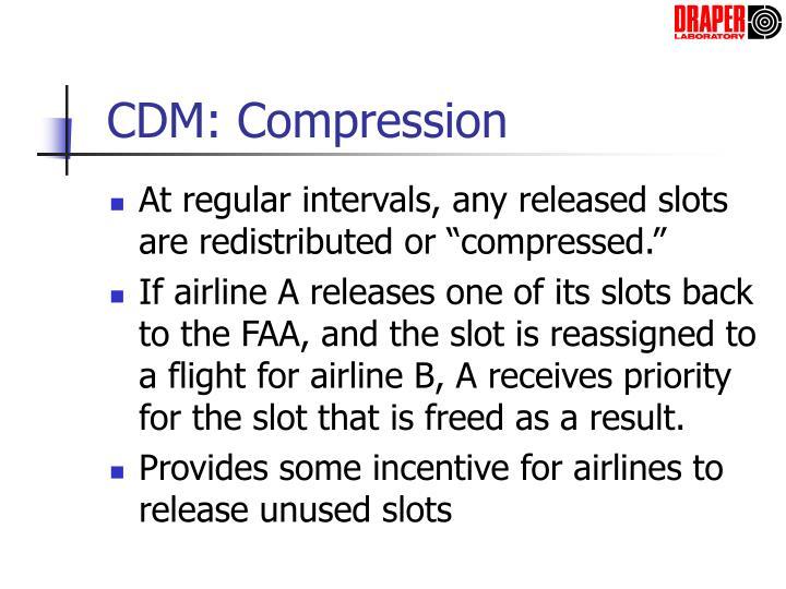 CDM: Compression