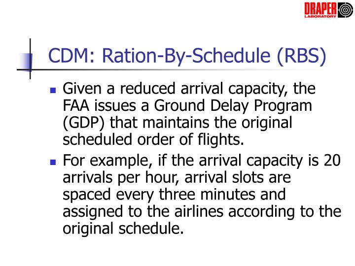CDM: Ration-By-Schedule (RBS)