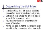 determining the sell price