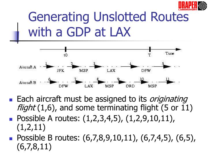 Generating Unslotted Routes