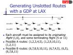 generating unslotted routes with a gdp at lax
