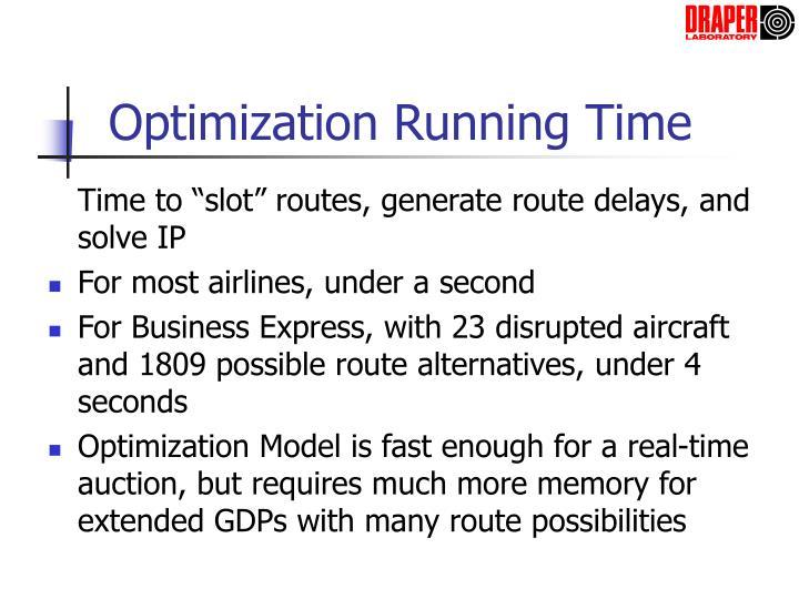 Optimization Running Time