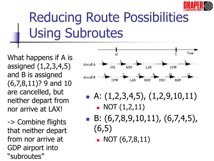 Reducing Route Possibilities Using Subroutes