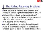 the airline recovery problem