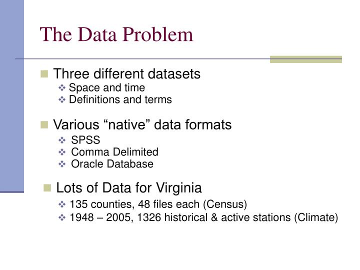 The Data Problem