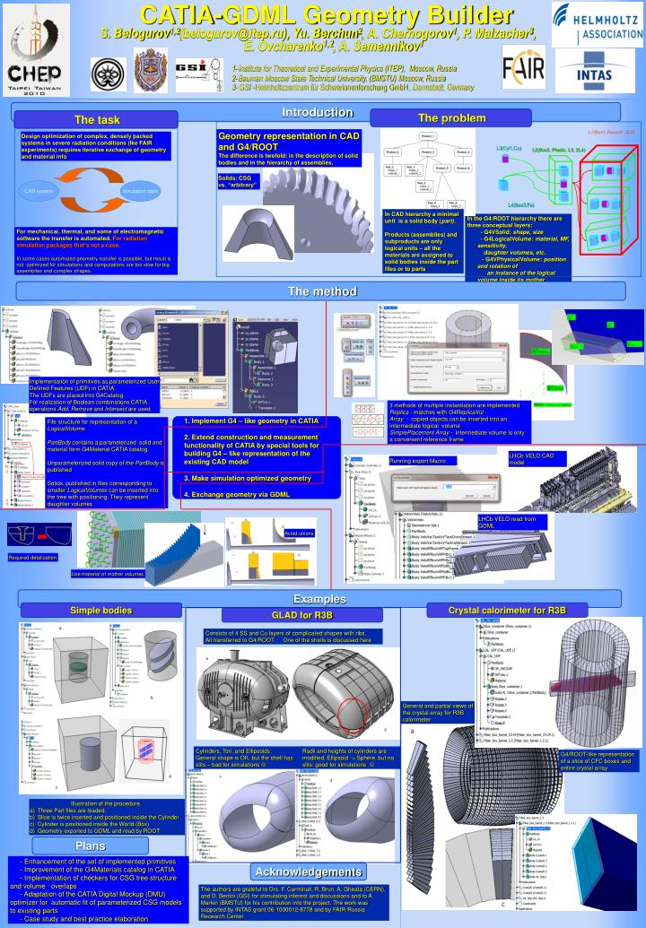 Catia gdml geometry builder