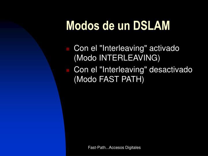 Modos de un DSLAM