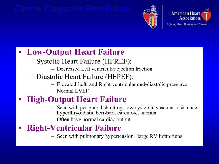 Low-Output Heart Failure